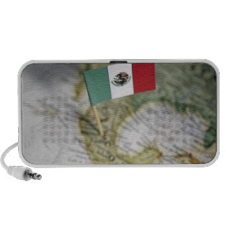 Mexican flag in map mini speakers