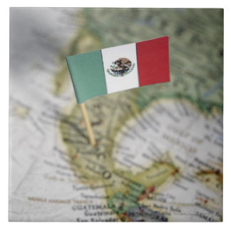 Mexican flag in map tile