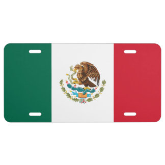 Mexican flag license plate | Colors of Mexico