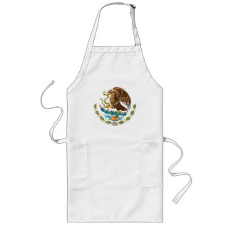 MEXICAN FLAG - MEXICO STYLE - COAT OF ARMS LONG APRON