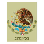 MEXICAN FLAG - MEXICO STYLE - COAT OF ARMS POST CARDS