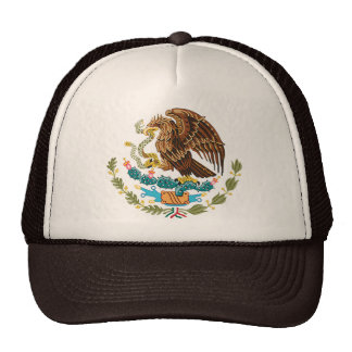 MEXICAN FLAG - MEXICO STYLE - COAT OF ARMS TRUCKER HAT