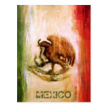 MEXICAN FLAG - MEXICO STYLE POST CARD