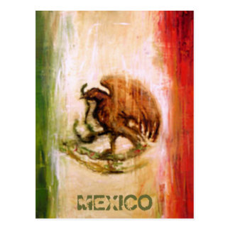 MEXICAN FLAG - MEXICO STYLE POSTCARD