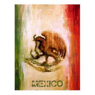 MEXICAN FLAG - MEXICO STYLE POSTCARD