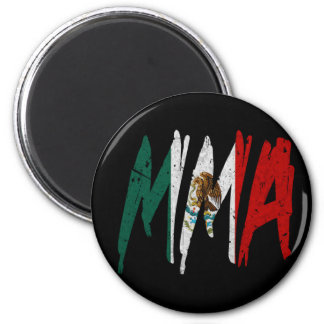 Mexican Flag MMA 2 Inch Round Magnet