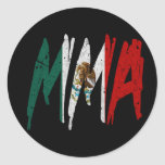 Mexican Flag MMA Round Sticker