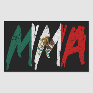 Mexican Flag MMA Sticker
