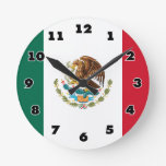 Mexican flag of Mexico custom round wall clock