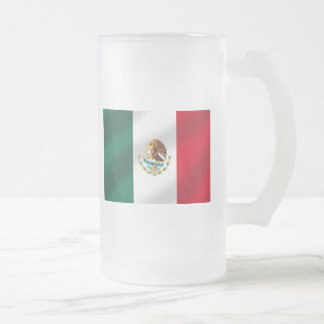 Mexican flag of Mexico Tees and gifts 16 Oz Frosted Glass Beer Mug