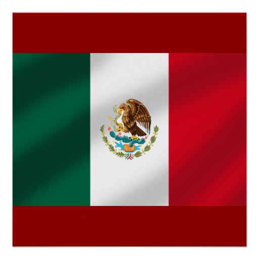Mexican flag of Mexico Tees and gifts Poster