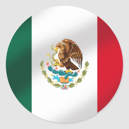 Mexican flag of Mexico Tees and gifts Sticker