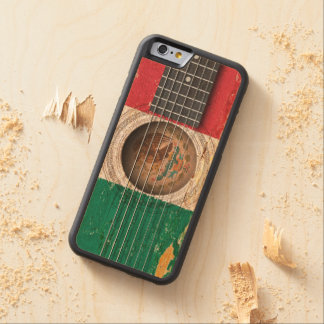 Mexican Flag on Old Acoustic Guitar Carved Maple iPhone 6 Bumper Case