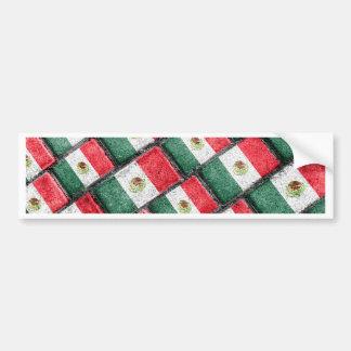 Mexican Flag Pattern Design Bumper Sticker