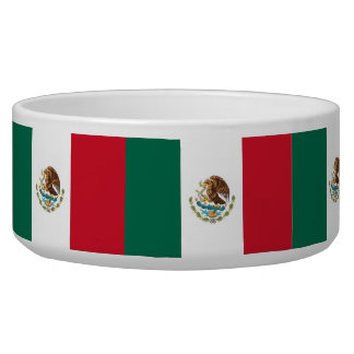 Mexican Flag Pet Bowl