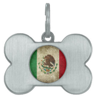 Mexican Flag Pet Name Tag