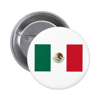 Mexican Flag Pinback Button