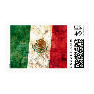 Mexican Flag Postage Stamps