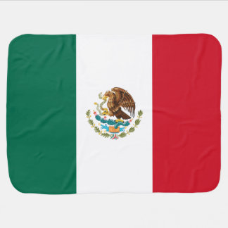 Mexican flag receiving blanket