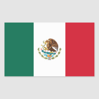 Mexican Flag Rectangle Stickers