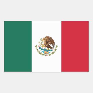 Mexican Flag Rectangular Sticker