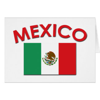 Mexican Flag (Red) Card