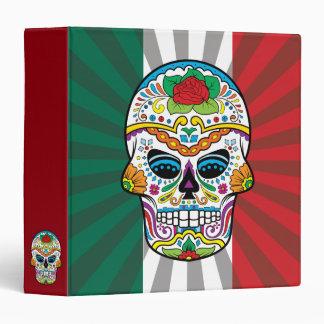 Mexican Flag Red Rose Sugar Skull Binder