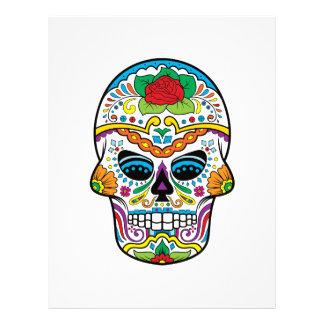 Mexican Flag Red Rose Sugar Skull Letterhead