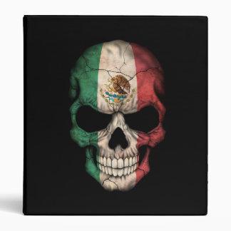 Mexican Flag Skull on Black Binder