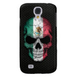 Mexican Flag Skull on Steel Mesh Graphic Galaxy S4 Cover