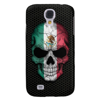 Mexican Flag Skull on Steel Mesh Graphic Samsung Galaxy S4 Case