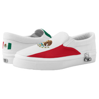 Mexican flag Slip On Shoes