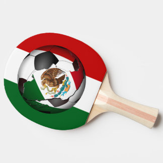 Mexican Flag  Soccer Ball Ping-Pong Paddle