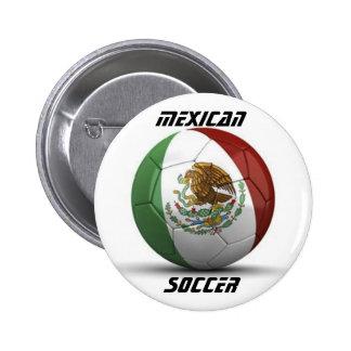 Mexican Flag Soccer Button Button