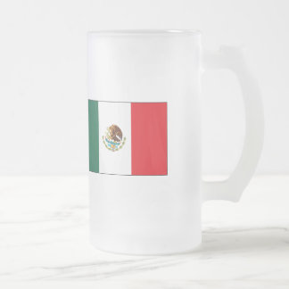 Mexican Flag T-shirts and Gifts Frosted Glass Beer Mug