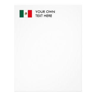 Mexican Flag T-shirts and Gifts Letterhead