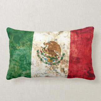 Mexican Flag Throw Pillow