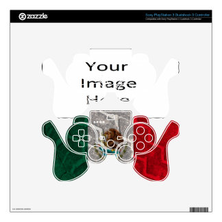 Mexican Flag tire tread Decal For PS3 Controller