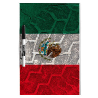 Mexican Flag tire tread Dry-Erase Whiteboards