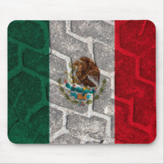 Mexican Flag tire tread Mouse Pad