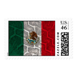 Mexican Flag tire tread Stamp