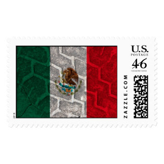 Mexican Flag tire tread Postage Stamps