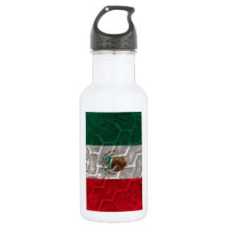 Mexican Flag tire tread Stainless Steel Water Bottle