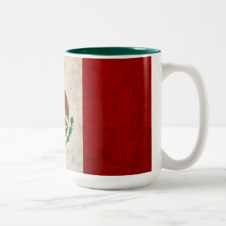 Mexican Flag Two-Tone Coffee Mug