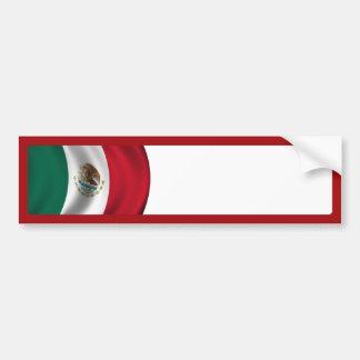 Mexican Flag Waving Bumper Sticker