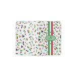Mexican flag with icons of Mexico Passport Holder