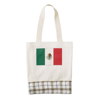 Mexican Flag Zazzle HEART Tote Bag