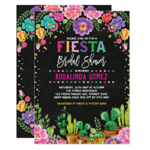 Fiesta Bridal Shower Invitations Zazzle