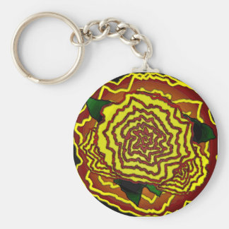 mexican flower keychain