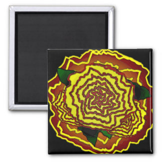 mexican flower 2 inch square magnet